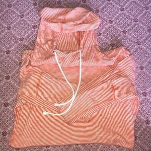 Jcrew Orange striped hoodie